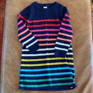 Gap rainbow striped sweater dress